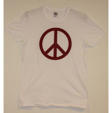 T-Shirt - Peace Symbol - Vit