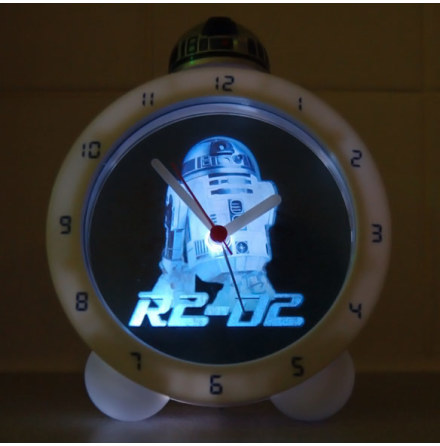 Star Wars Glow In The Dark R2-D2 Alarm Clock with Sound