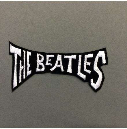 Beatles - Svart/Vit Text - Tygmärke