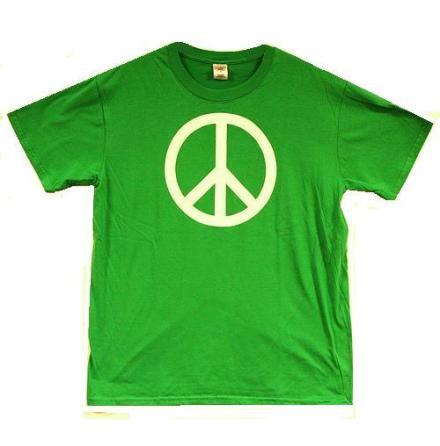 T-Shirt - Peace Symbol - Grön