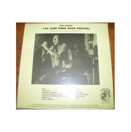 LP - The Clash - 100 Club Punk Rock Festival